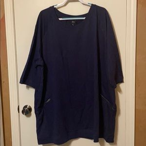 French Terry Navy Tunic